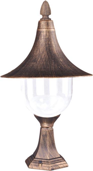 Niska zewnętrzna lampa stojąca K-8128 czarna/złota z serii BOSTON