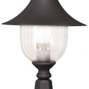 Niska zewnętrzna lampa stojąca K-8133 czarna z serii BOSTON