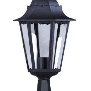 Niska zewnętrzna lampa stojąca K-5006S czarna z serii LOZANA