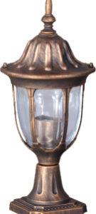 Niska zewnętrzna lampa stojąca K-5007S2/N czarna/złota z serii VASCO