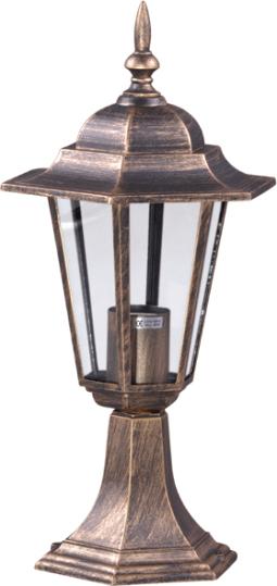 Niska zewnętrzna lampa stojąca K-5009S czarna/złota z serii STANDARD