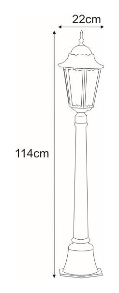 Niska zewnętrzna lampa stojąca K-6006A czarna/złota z serii LOZANA