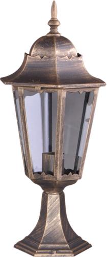 Niska zewnętrzna lampa stojąca K-5006S czarna/złota z serii LOZANA