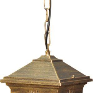 Wisząca lampa zewnętrzna K-5156H czarna/złota z serii KERRY
