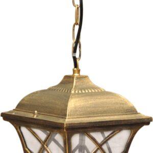 Wisząca lampa zewnętrzna K-5180H czarna/złota z serii KERRY