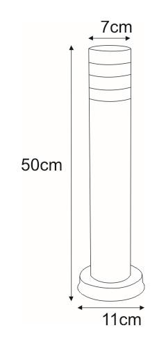 Niska zewnętrzna lampa stojąca K-LP401-500 z serii LIMA