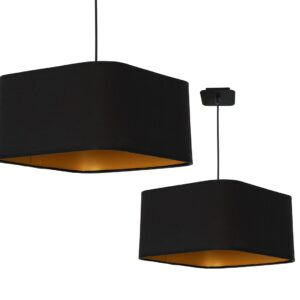 Lampa wisząca NAPOLI BLACK/GOLD 1xE27 - ML6368