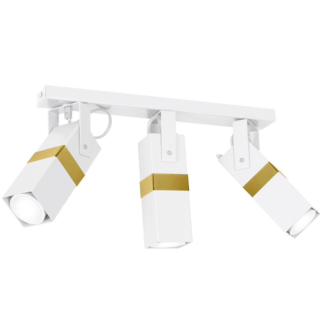 Lampa sufitowa VIDAR WHITE/GOLD 3xGU10 - MLP6274