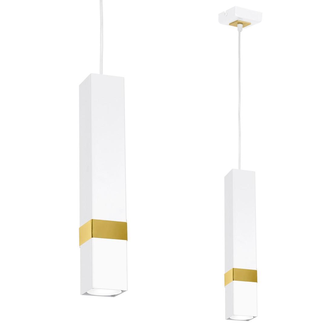 Lampa wisząca VIDAR WHITE/GOLD 1xGU10 - MLP6275