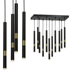 Lampa wisząca MONZA BLACK / GOLD 11xG9 8W - MLP6386