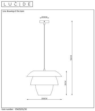 Lampa wisząca JERICHO - 05429/01/30