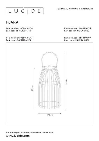 Lampa stojąca FJARA - 06801/01/97