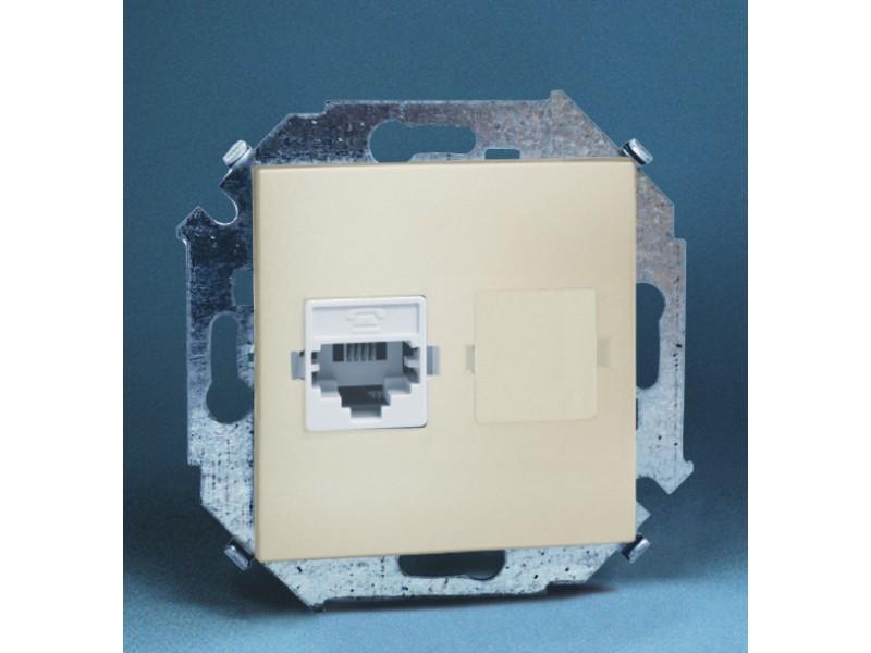 Gniazdo telefoniczne RJ11 pojedyncze (moduł) - 1591480_031K