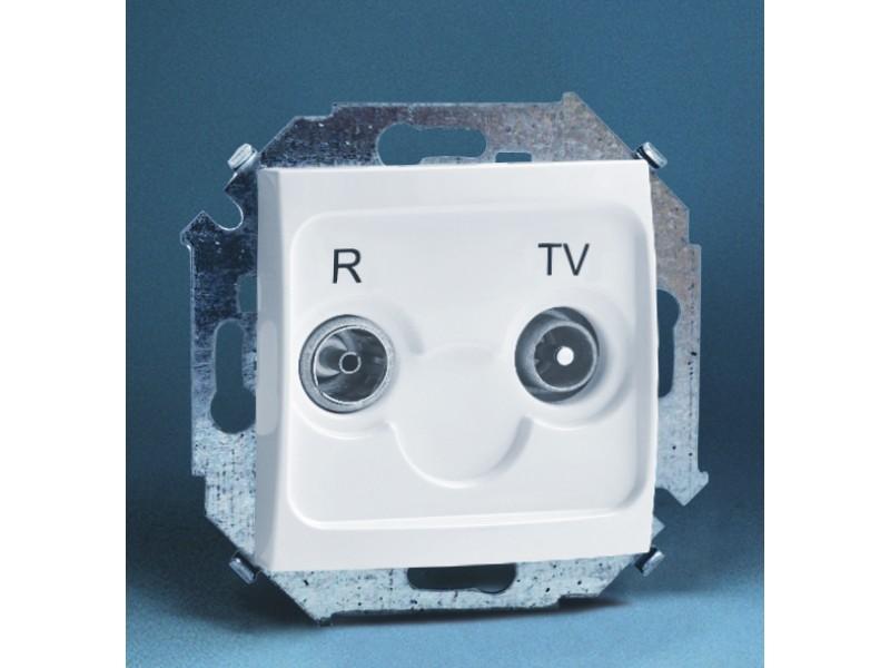 Gniazdo antenowe RTV przelotowe 10dB (moduł) - 1591487_030K