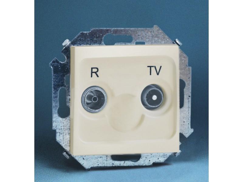 Gniazdo antenowe RTV przelotowe 10dB (moduł) - 1591487_031K