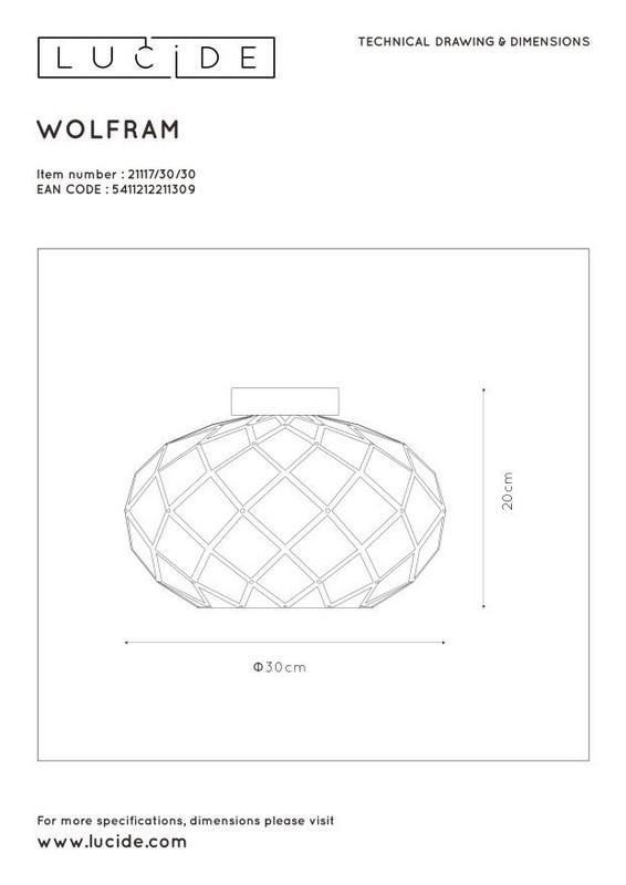 Lampa sufitowa WOLFRAM - 21117/30/30