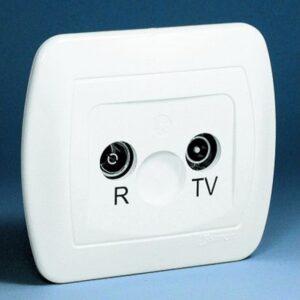 Gniazdo antenowe RTV przelotowe, tłumienie 14dB - AA14_11