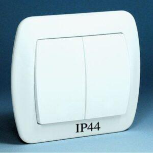 Łącznik schodowy podwójny bryzgoszczelny z podświetleniem - AW6_2BL_12