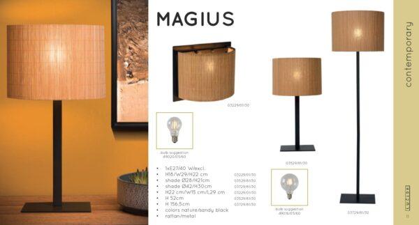 Lampa ścienna MAGIUS - 03229/01/30