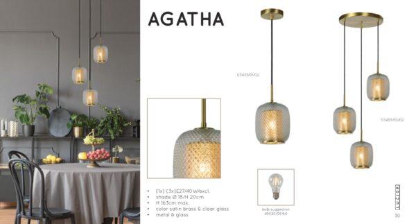 Lampa wisząca AGATHA - 03433/01/02
