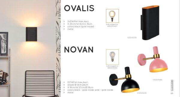 Lampa ścienna OVALIS - 12222/02/30