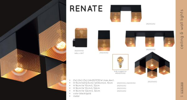Lampa sufitowa RENATE - 21123/02/02