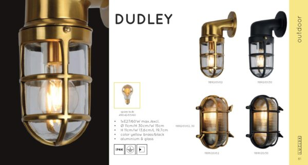 Lampa ścienna DUDLEY - 11892/01/02
