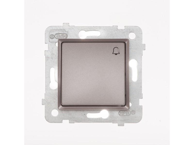 ROSA Przycisk dzwonek bez ramki, kolor tytanowy metalik - LP-6Q_M_TY