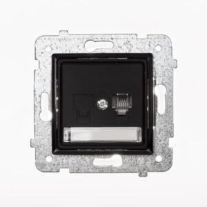 ROSA Gniazdo telefoniczne RJ11 pojedyncze bez ramki, kolor czarny - GPT-1Q_M_CZ