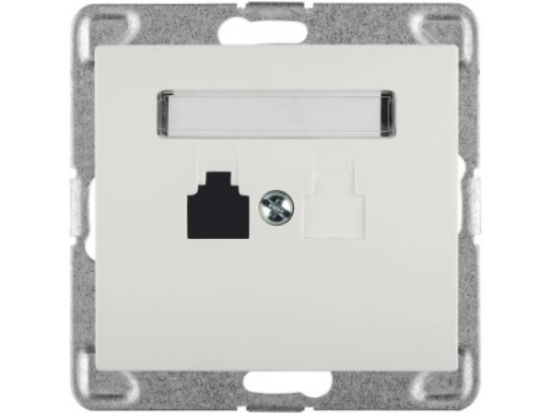 SIGMA (Biały) Gniazdo telefoniczne pojedyncze GPT-1D/m bez ramki - GPT-1D/M.BI
