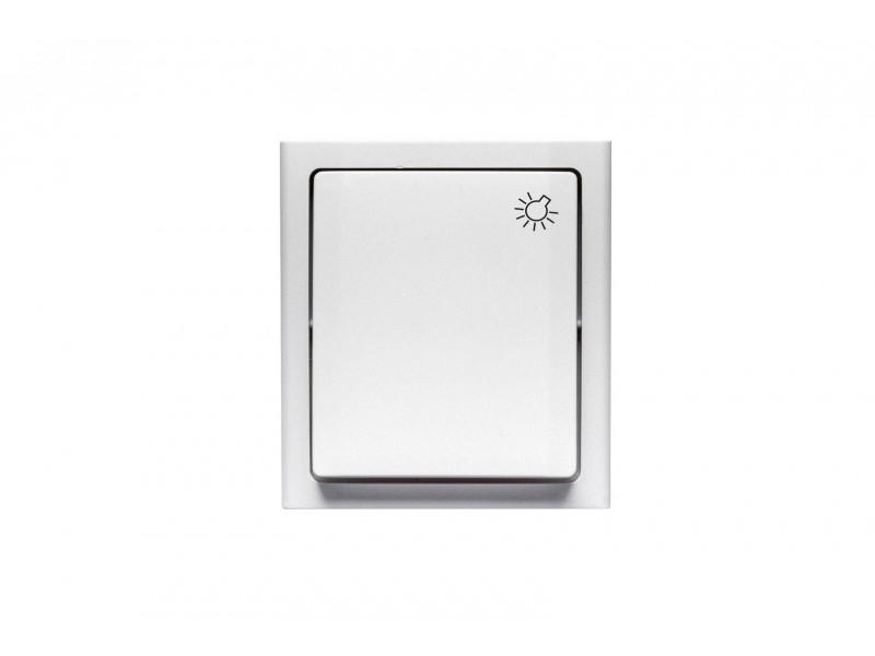 """BRAVO Przycisk """"światło"""" n/t IP54 kolor biały - ŁNH-5B.BI"""