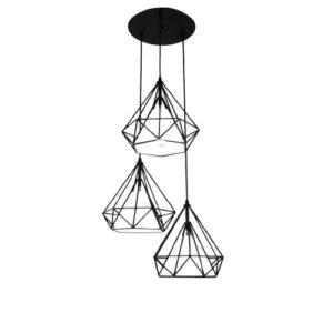 Lampa wisząca Diament ABIGALI - CHNR3-E27